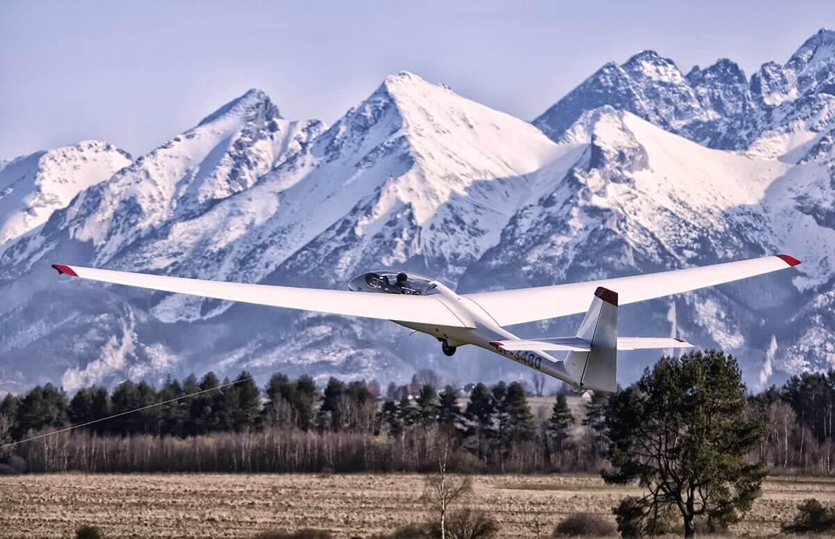 Szybowiec - lot w Tatrach