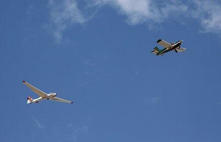 Widokowy lot szybowcem nad Zamkiem Książ