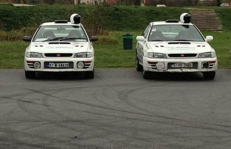 Rajdowy trening jazdy Subaru