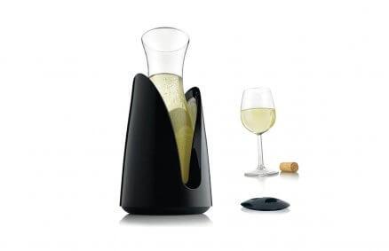 Karafka chłodząca do wina (czarna) | Vacu Vin