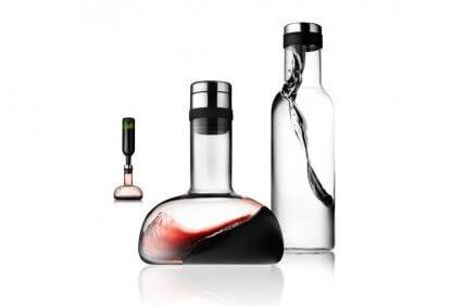 Zestaw karafek - na wodę i do wina