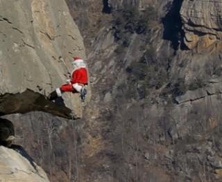 Wspinający się Mikołaj