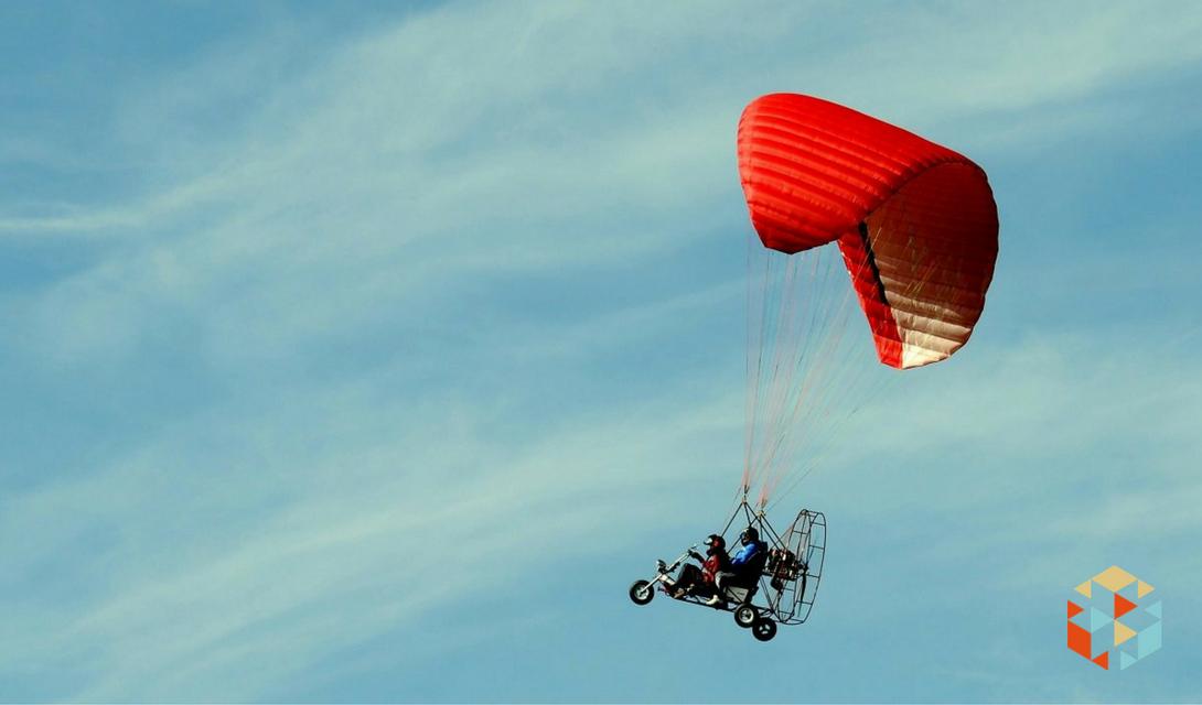 Lot motoparalotnią w prezencie dla taty.