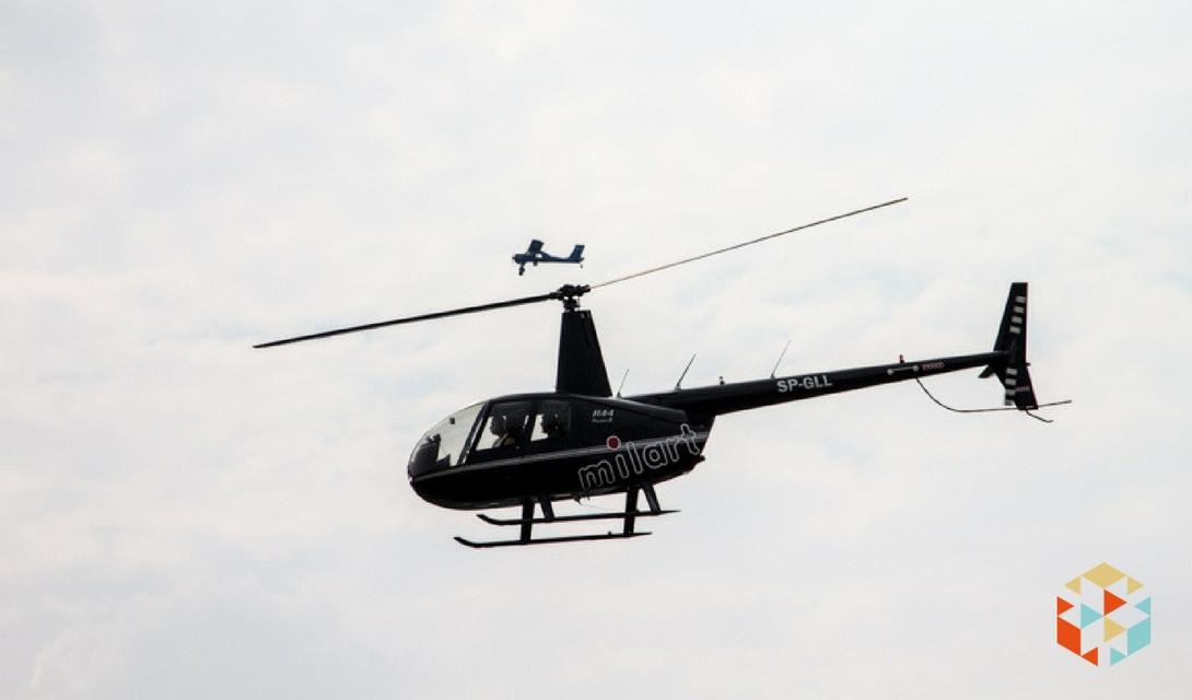pokaz lotniczy - helikopter