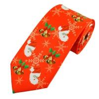 Śmieszny krawat z motywem świątecznym