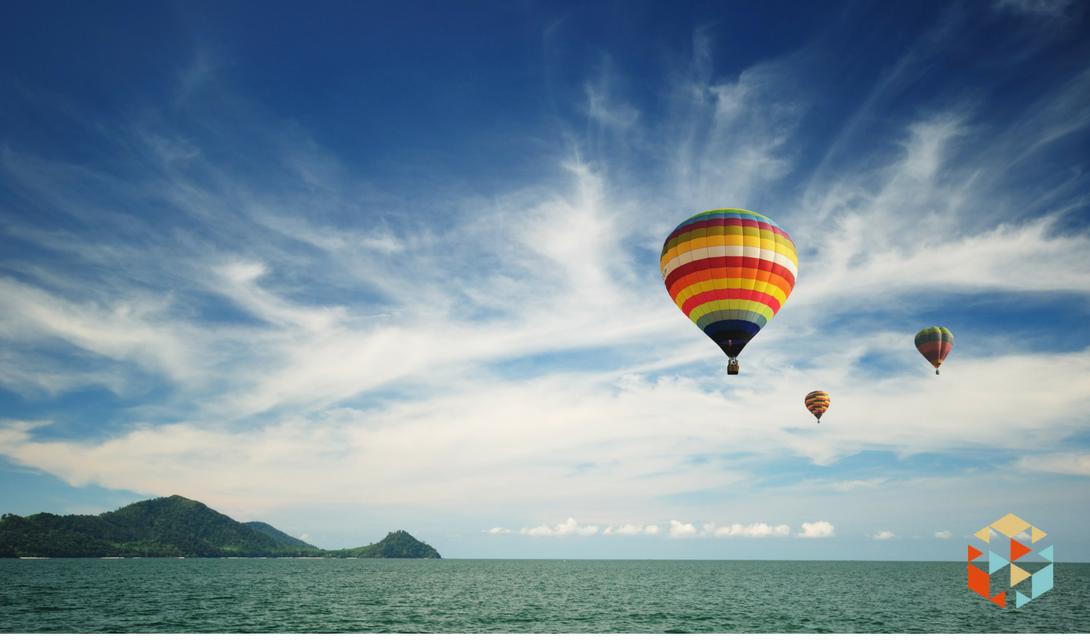 lot balonem w prezencie na 50 urodziny