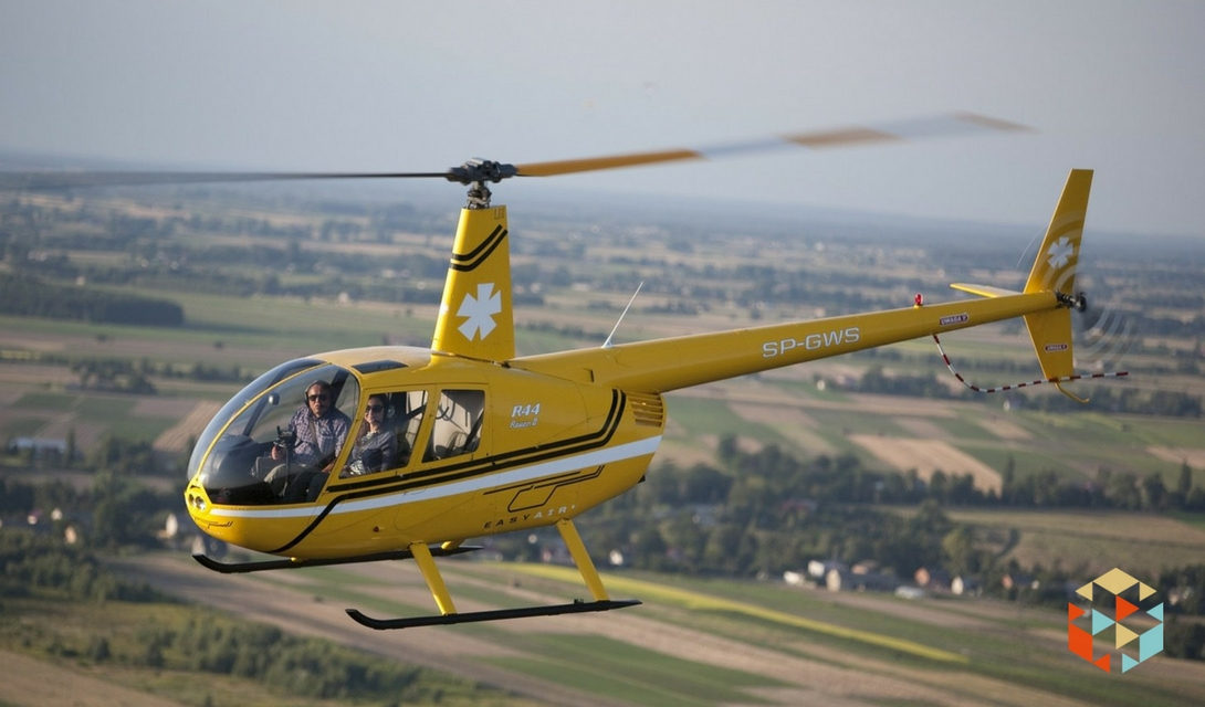 Lot helikopterem w Warszawie