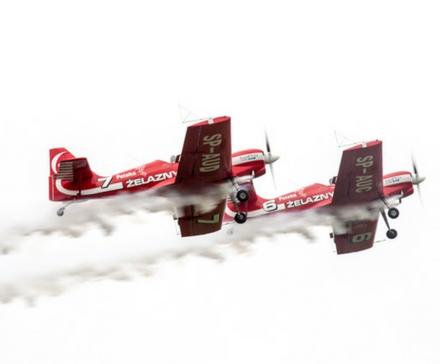 pokaz lotniczy - aeroklub wrocławski