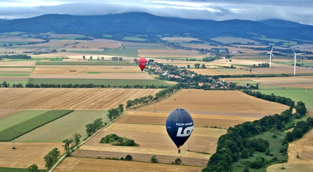 lot balonem okolice Wrocławia