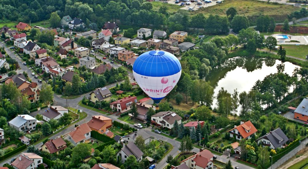 lot balonem nad Dolnym Śląskiem