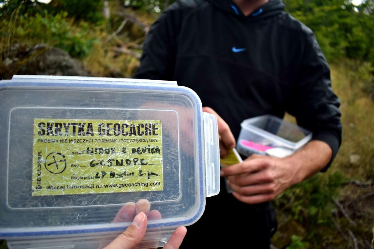 Skrytka Geocache w Górach Kaczawskich