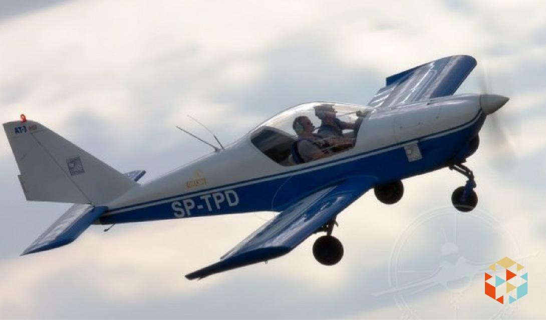 Lot samolotem nad Warszawą w prezencie