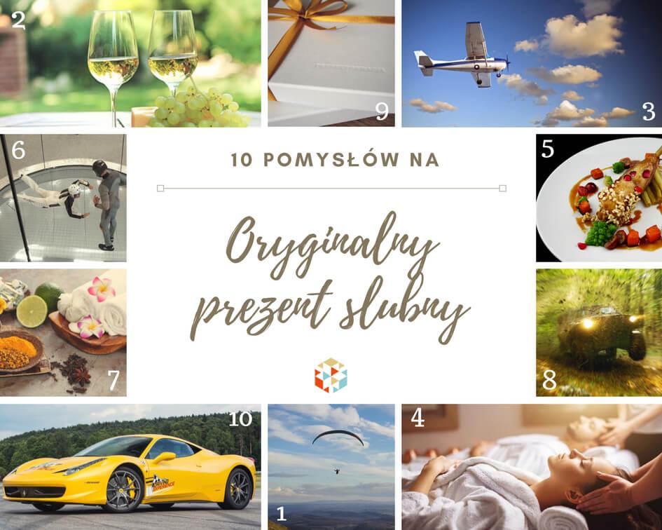 Oryginalne prezenty ślubne - 10 pomysłów
