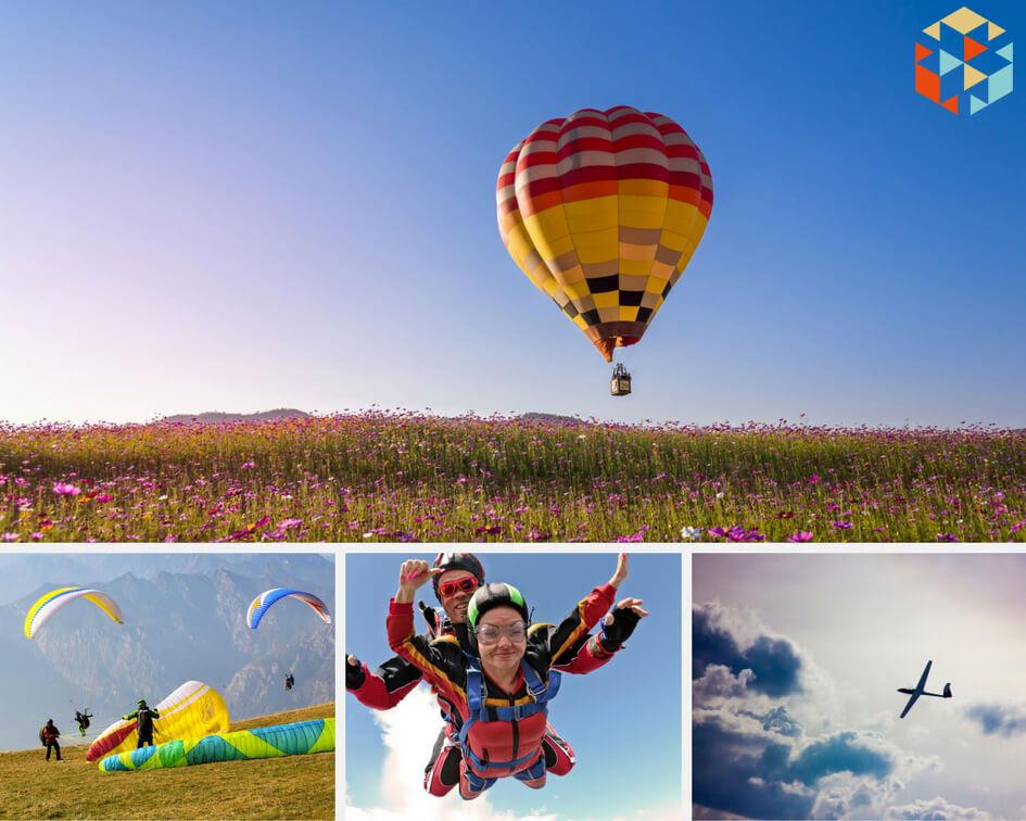 Prezenty lotnicze - lot paralotnią, skok ze spadochronem, lot szybowcem