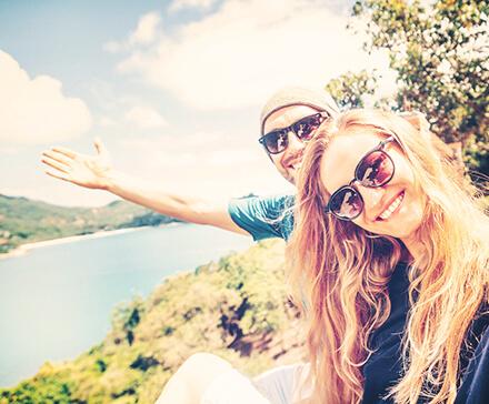 Para podczas wycieczki
