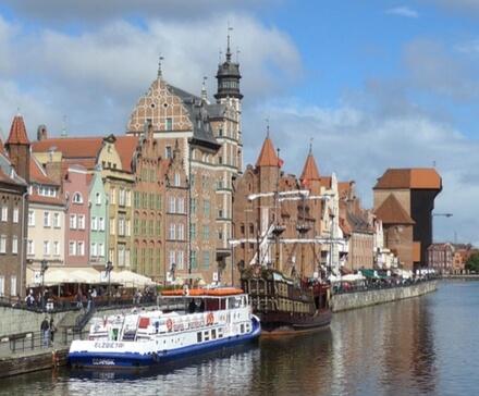 Gdańsk - widok na Żurawia Gdańskiego
