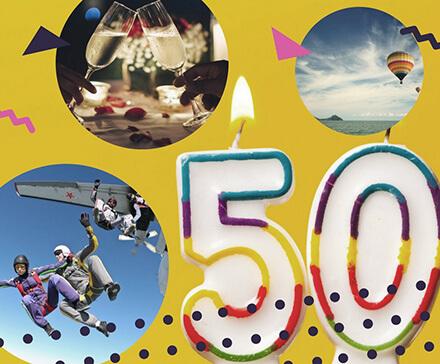 Jaki prezent na 50 urodziny? - kolaż zdjęć