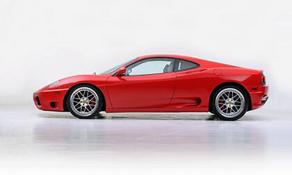 Czerwone Ferrari