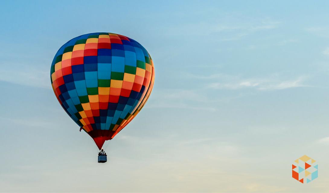 Lot balonem w prezencie ślubnym