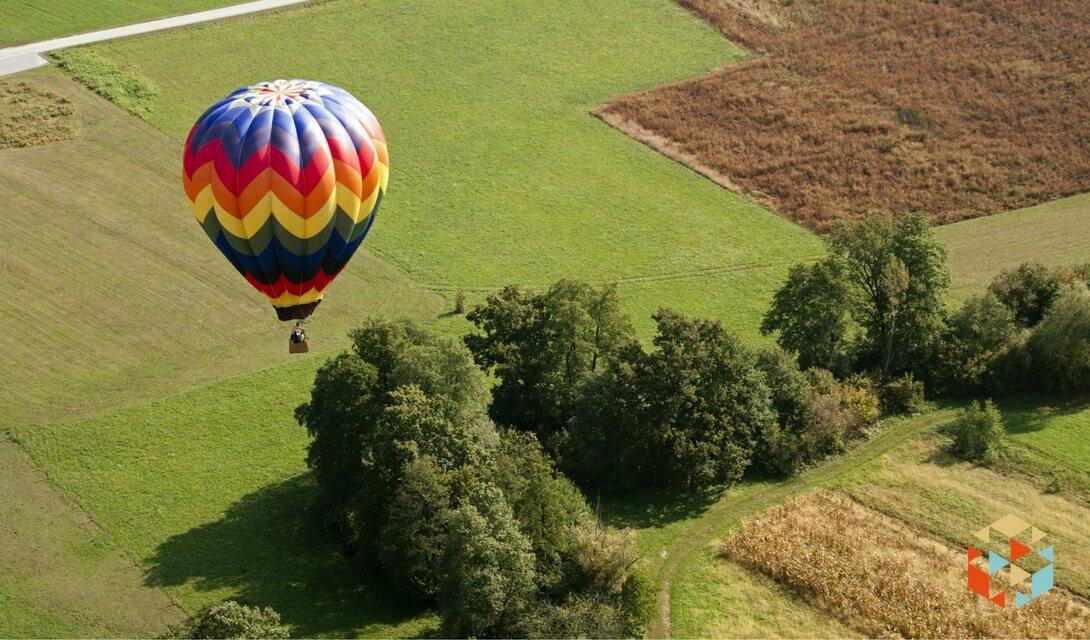 lot balonem dla pary w prezencie
