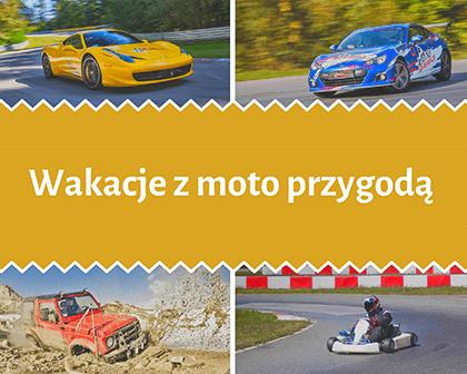 kolaż zdjęć: Pomysły na wakacje w mieście - motoryzacja