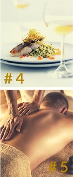 Prezenty dla mężczyzny - masaż i kolacja we dwoje