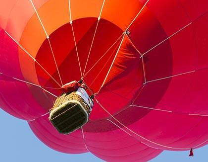 Przelot balonem na 18stke